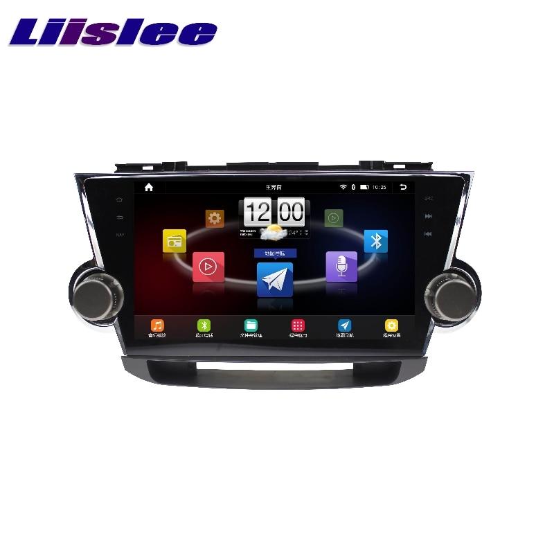 For Toyota Highlander XU40 Kluger LiisLee Car Multimedia TV DVD GPS Audio Hi-Fi Radio Stereo Original Style Navigation NAVI