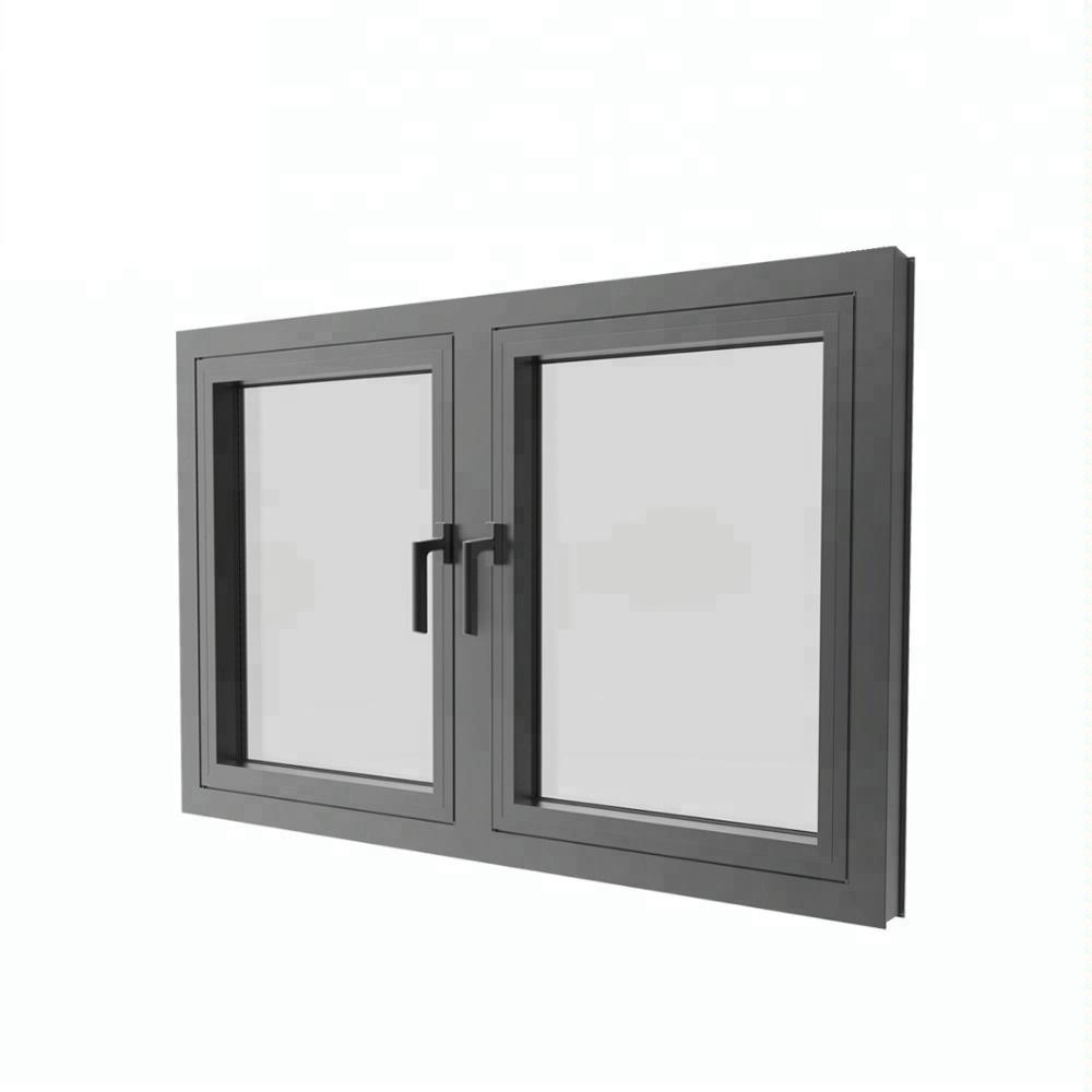 German New Model House Aluminium Frame In Swing Casement Windows
