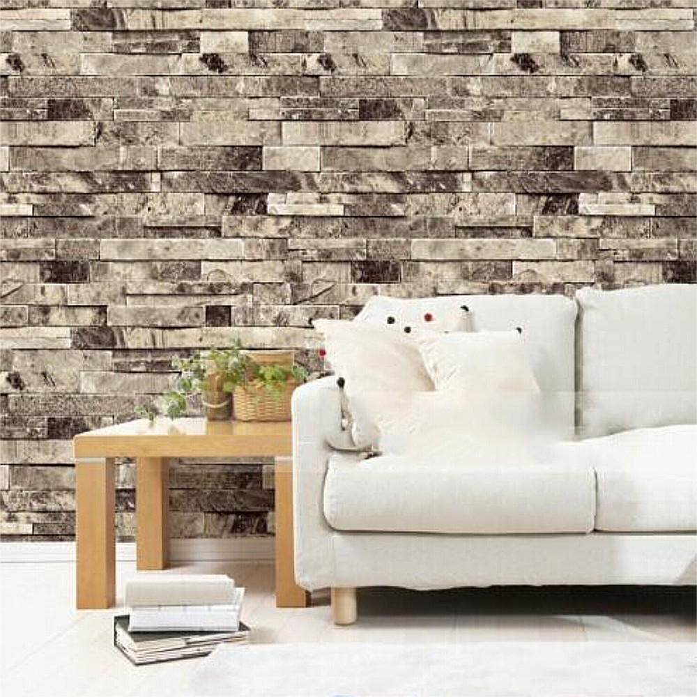 Vintage Brick Wallpaper for walls 3 d in rolls Living room Desktop Mural 3D wallpapers on the wall shinehome abstract brick black white polygons background wallpapers rolls 3 d wallpaper for livingroom walls 3d room paper roll