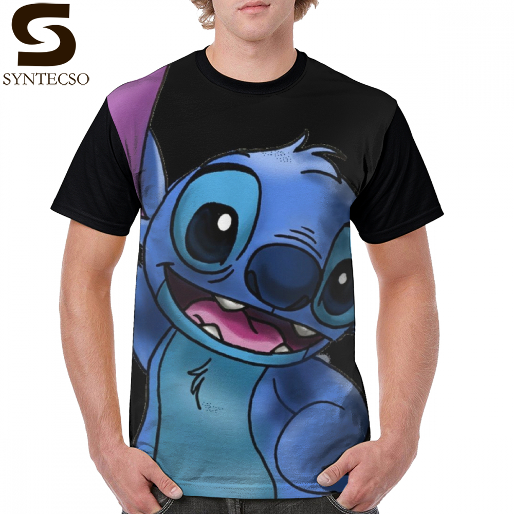 Stitch Lilo T Shirt Experiment 626 Stitch Zoomed In T-Shirt <font><b>Oversized</b></font> Streetwear <font><b>Graphic</b></font> Tee Shirt 100 Polyester <font><b>Tshirt</b></font> image