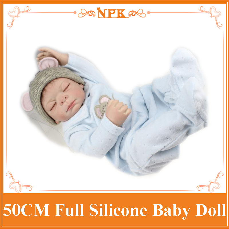 New Full Silicone Reborn Baby Dolls 50cm Handmade Popular Doll New Like Real Boy And Girl Baby Doll Babies Brinquedos Shower Toy handmade chinese ancient doll tang beauty princess pingyang 1 6 bjd dolls 12 jointed doll toy for girl christmas gift brinquedo