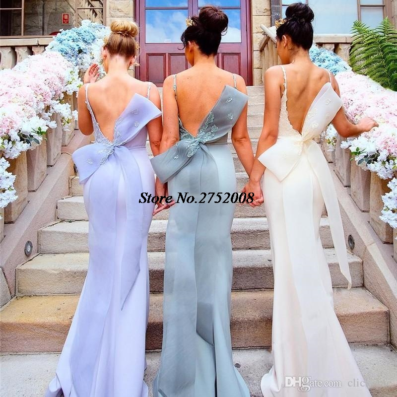 2017 New Split Mermaid Bridesmaid Dresses Cheap Long Sweetheart Lace  Appliques Spring Wedding Party Maid of Honor Gown B1USD 129.99 piece 7be7851f3c8c