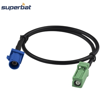Superbat AVIC Female Jack to Fakra C Male Plug Connector Antenna Feeder RG174 50cm RF Coaxial Cable фото