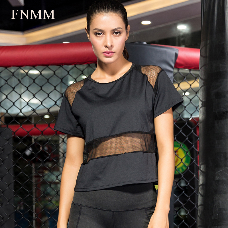 4577c2db9a9ba Detail Feedback Questions about FNMM Cool Mesh Transparent Design Fitness  Jersey Female Slim Yoga Shirt Comfortable Women s T shirts Qickly Dry Top  ...