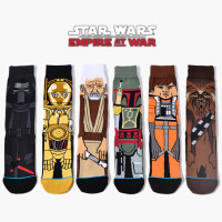 Free shipping Movie Star Wars Stockings For Adult Jedi Order Master Yoda Cosplay Long Star War Socks A set of 6 double