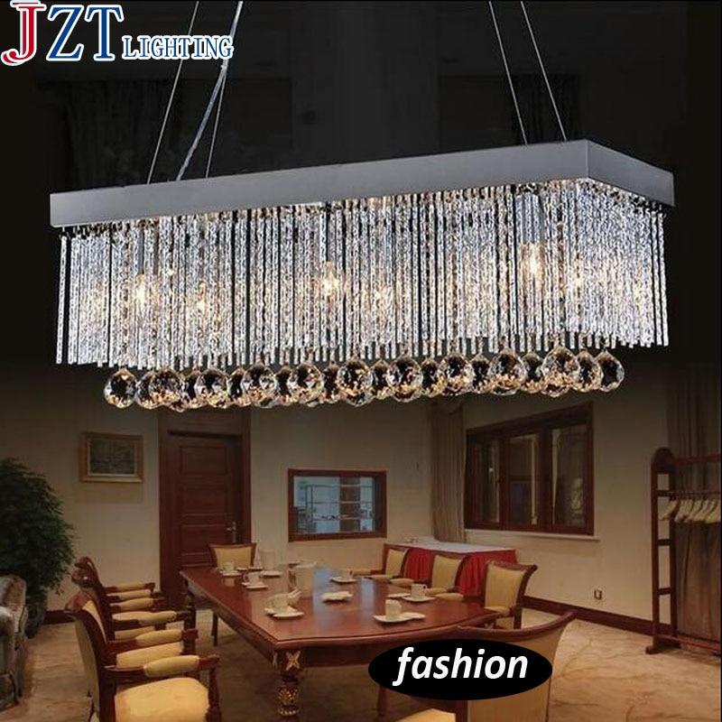 rectangular dining room light fixtures | M Modern Large Rectangular Dining Lamp Led Crystal ...