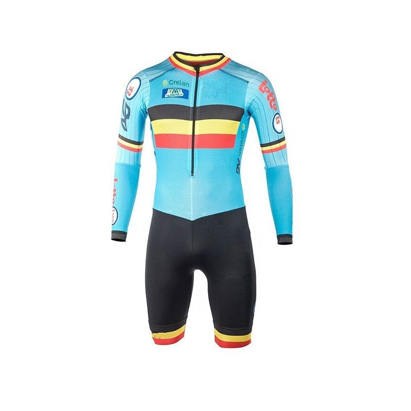 Pro Team Belgium summer Cycling jersey skinsuits Belgian flag bike bodysuits MTB Ropa Ciclismo Bicycle maillot GEL PAD