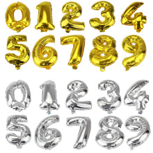 1PC 16inch 0-9 Gold Silver Number Foil Balloon Digit For Home Wedding Birthday Party Decoration Air Balloon Event Party Supplies