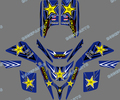 star New Style DECALS STICKERS Graphics Kits For YAMAHA BLASTER YFS 200 1988--1997 1998 1999 2001 2002 2003 2004 2005 2006