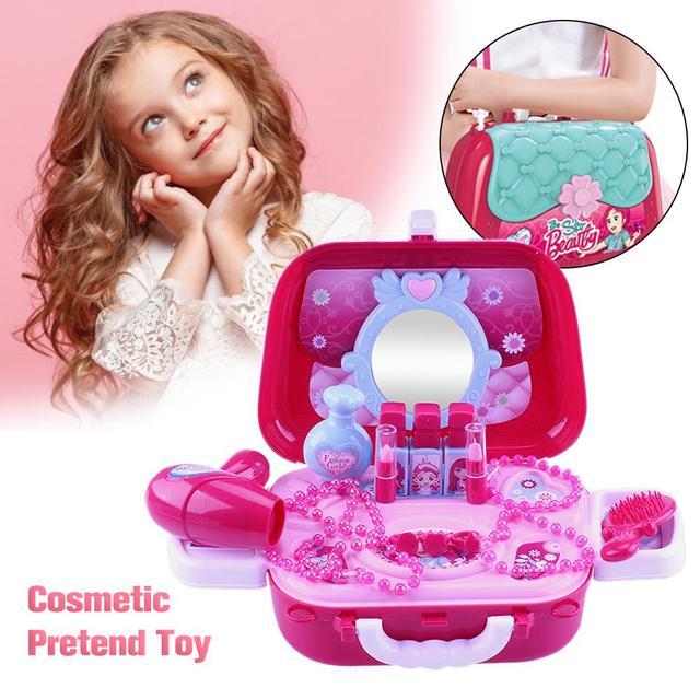 Tóxicos Para Cajas Juguetes Cosmético Juego Maquillaje NiñosSimulación De PrincesaRosaBellezaNo Niñas Viaje CdBxoerW