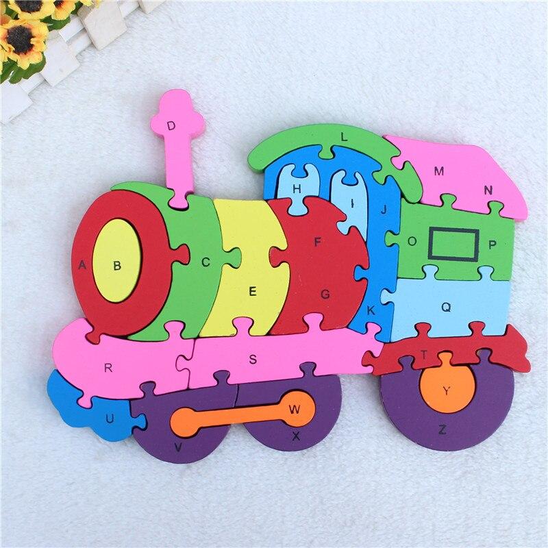 3D 26 письмо цифровой wodden прекрасный Томас головоломки для детей Обучающие игрушки различных типов для вашего выбора