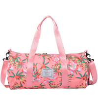 Large Capacity Women Travel Bag Flower Gym Bag Pink Duffle Quitte Bags for Women Weekender Shoes Organizers Holder Wall Corner