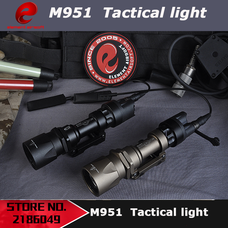 Element Airsoft Tactical M951 Light LED Version Super Bright Flashlight With Remote Pressure Switch Controller EX108