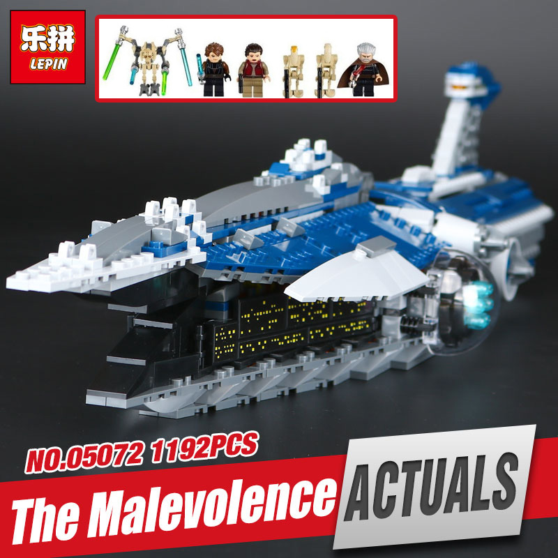 Lepin 05072 Star Series The Limited Edition Malevolence Warship Set Children Building Blocks Bricks War Toys Model legoing 9515