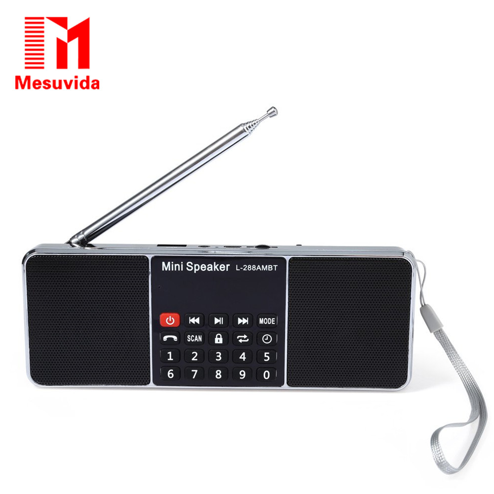 Mesuvida L-288AMBT Bluetooth 2.1 Wireless Speaker Built-in Microphone Support AM Radio FM Radio Function With LED Display Screen