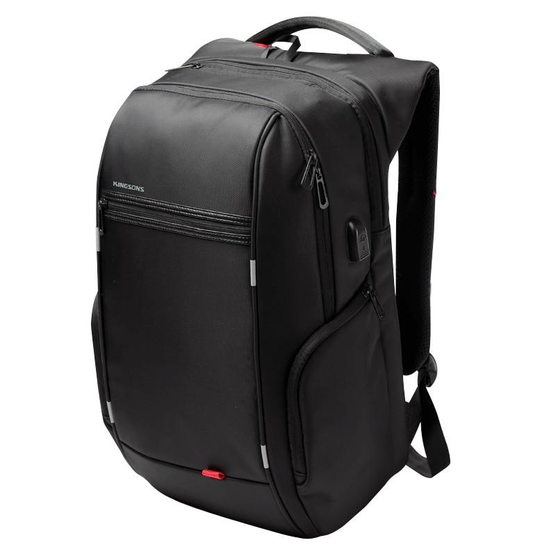 Kingsons sac à dos hommes femmes pour 13/15. 6/17 pouces Anti-vol sac à dos pour ordinateur portable pour adolescent filles garçons USB charge sac à dos
