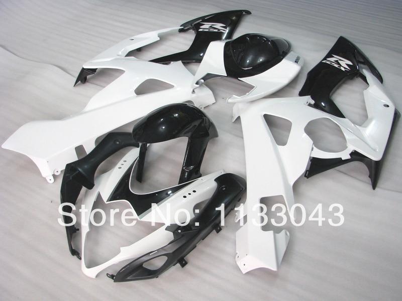 Мотоциклетный вставной обтекатель комплект для SUZUKI GSX-R1000 GSX R1000 GSXR 1000 K5 05 06 K5 05-06 Белый Черный U436 GSXR1000 2005 2006 Fairin