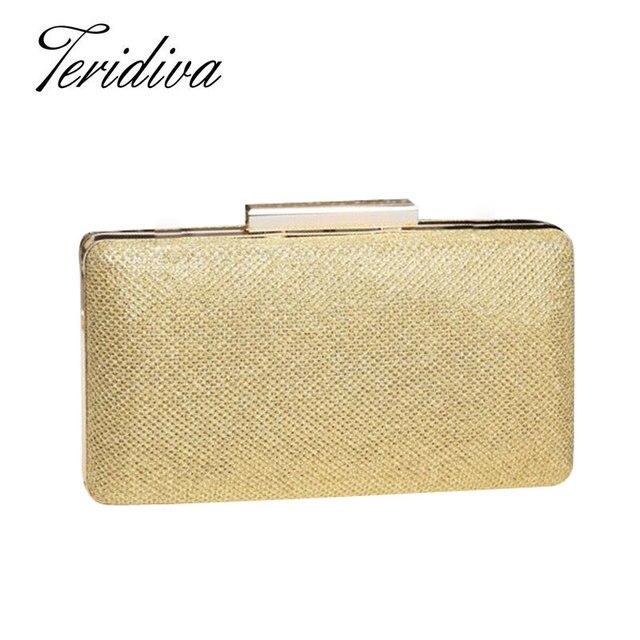 Teridiva New Womens Glitter Sequins Evening Bag Ladies Small Purse Chain Clutch Bag Wedding Crossbody Handbag Purses and Handbag