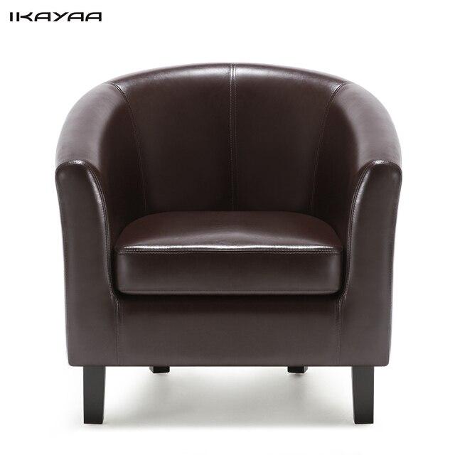 Ikayaa US FR silla pu cuero barril bañera sillón acento Club silla ...