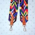 Bag Handles for Handbags Strap You Wide Shoulder Cotton Raibow Rivets Handbags Cross Body Messenger Bags Women Men B5010