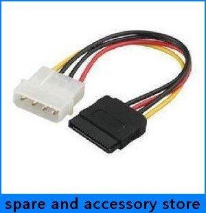 freeshipping wholesale 4Pin IDE to 15 Pin SATA N IDE to serial ATA SATA hard drive power adapter cable