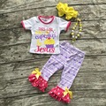baby girls summer outfits girls capri sets this girl runs on cupcakes and Jesus outfits purple Aztec capri with accessories