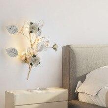 Сад цветок стены современный минималистский керамическая лестница проход светильники LED спальня ночники гостиная ТВ фон бра