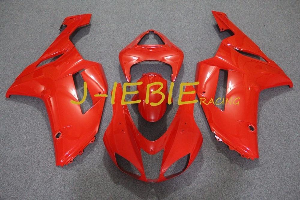 Red Injection Fairing Body Work Frame Kit for Kawasaki NINJA ZX6R ZX6 ZX 6 R 2007 2008
