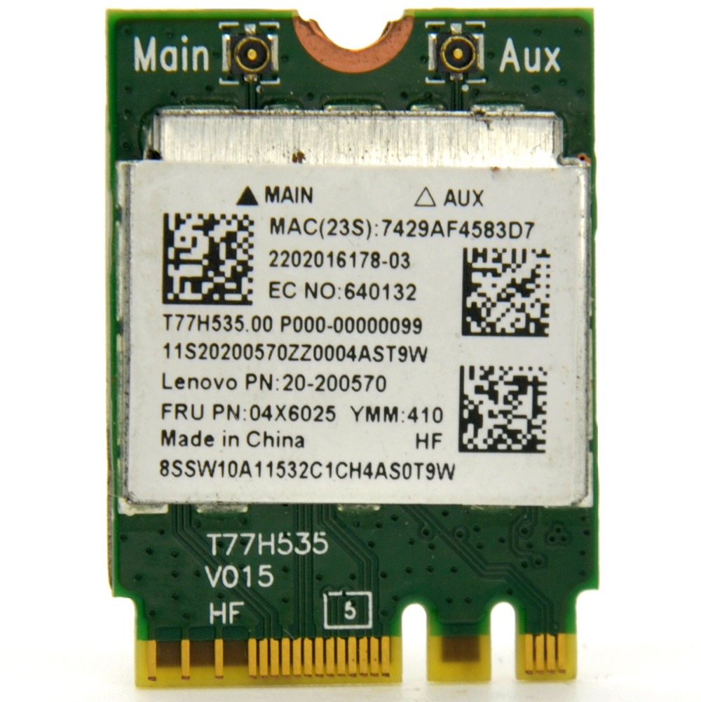 For RealTek RTL8723BE Wireless 802.11b//g//n WiFi Bluetooth 4.0 NGFF Mini Card