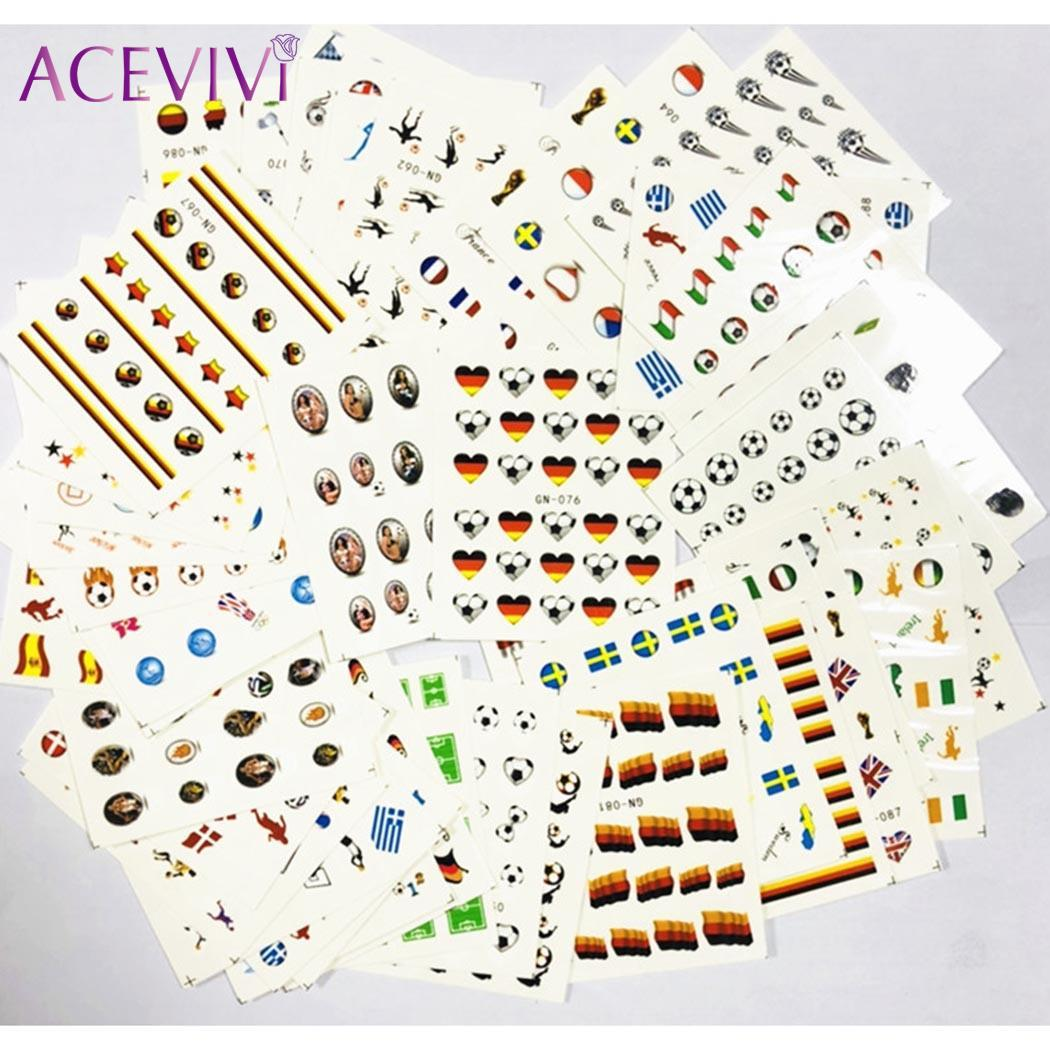 Hot Sale Decals Football Sports Water Decal Women Nail Art Stickers