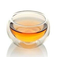 1 шт., прозрачные стеклянные чашки ручной работы с двойными стенками, термостойкие стеклянные чайные чашки и кружки, кофейные чашки для путешествий, стеклянная посуда