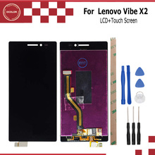 1920x1080 For Lenovo Vibe X2 LCD Display and Touch Screen Assembly Repair Part 5.0 inch Mobile Accessories+Tools And Adhesive