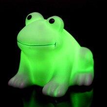 Cute Cartoon Frog LED Night Light Colorful Gradient Nightlight Creative Wireless Animal Night Lamp for Children Kids Baby Gift