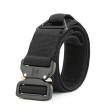 Military Tactical Belt Men Army Metal Buckle Nylon Belt For Jeans Pants 4.3CM Equipment Heavy Duty Canvas Waist Belt With Velcro(China)