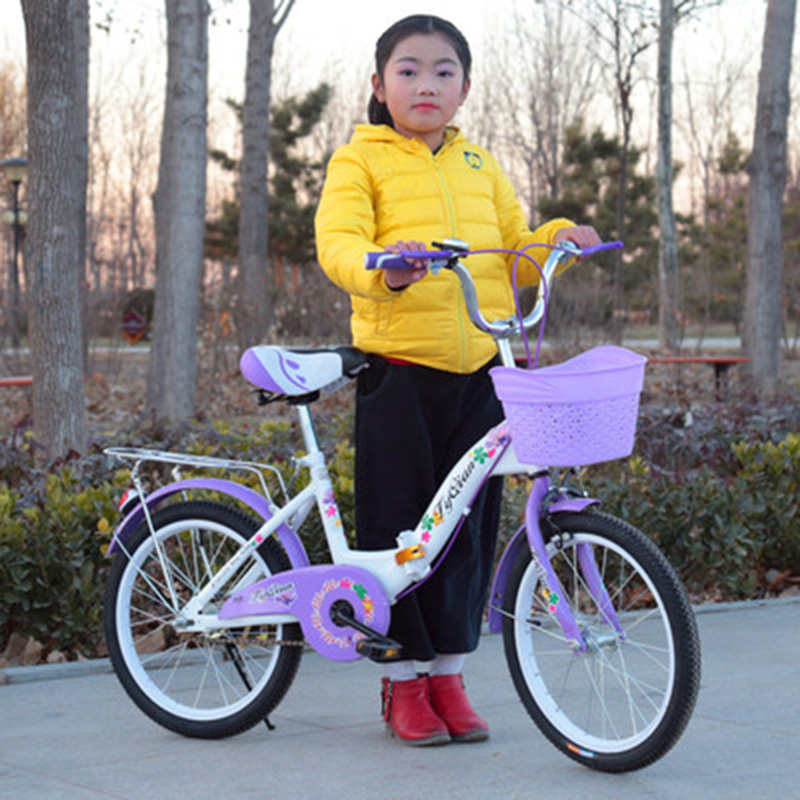 New Childrens Folding Bicycle 18-inch Princess Princess Boy Student Bicycle FoldableNew Childrens Folding Bicycle 18-inch Princess Princess Boy Student Bicycle Foldable