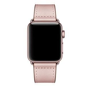 Image 2 - Echt Lederen Horloge Band Strap Voor Apple Horloge Serie 4 3 2 1 42Mm 44Mm, viotoo Vrouwen Luxe Lederen Horloge Band Voor Iwatch