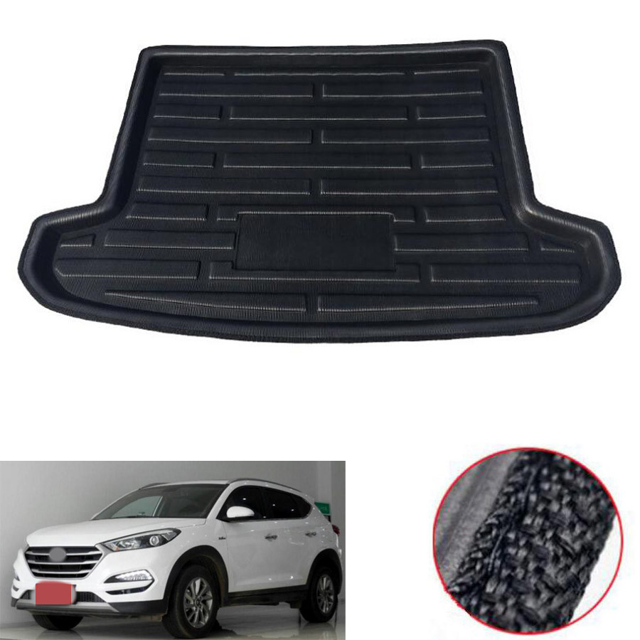 Car Waterproof Cargo Liner Rear Trunk Boot Mat Cover Floor Tray Protector Carpet Pad Fit For Hyundai Tucson 2016 2017 2018Car Waterproof Cargo Liner Rear Trunk Boot Mat Cover Floor Tray Protector Carpet Pad Fit For Hyundai Tucson 2016 2017 2018