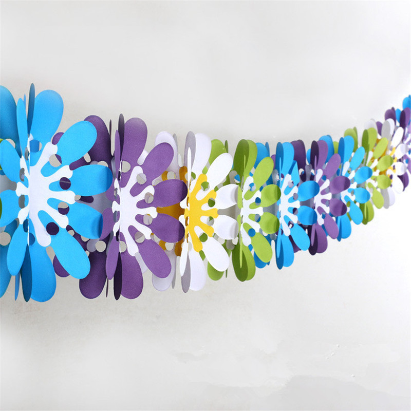 colorful baby shower paper flowers banner event party supplies artificial flowers wedding birthday party decorations kids in banners