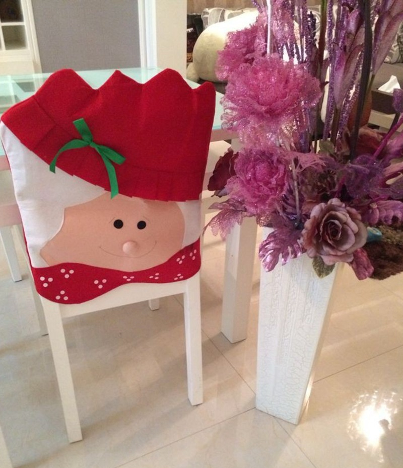 Decorate Your Dinning With These Lovely Christmas Chair: 2017 Lovely Christmas Chair Covers Mr & Mrs Santa Claus
