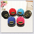 High Quality Children's Kids Cartoon Superman Batman Snapback Cap Cotton Cap Boys and Girls Hip-Hop Kids Baseball Hats