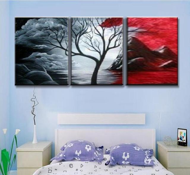 100 Hand Painted Oil Painting 3 In 1 Modern Home Decor Abstract