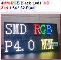 P4 levou módulo, smd 2 em 1, alta resolução, alta e clara, leds preto, 1/16 de varredura, 256*128mm, 64*32 pixel, p4 full color display panel
