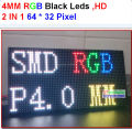 p4 led module, smd 2 in 1, high resolution,high clear, black leds,1/16 scan, 256*128mm ,64*32 pixel,p4 full color display panel