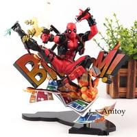 Marvel Action Figures Marvel Universe BLAM! Deadpool Figure Toys Deadpool Breaking the Fourth Wall Statue Figurine 20cm