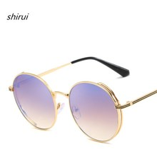 лучшая цена 2019 Round Metal Sunglasses for Men Women Mirrored Circle Sun glasses Brand Designer Retro Vintage Oculos de sol feminino UV400