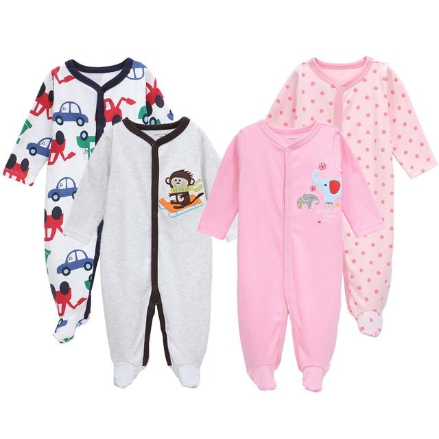 e9273ea3b5880 2 Teile satz Neugeborenen Kleidung Zufällige Farbe Junge Mädchen Strampler  Roupas Bebe Herbst Babyspielanzug Kleinkind