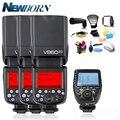 3x Godox V860II-C V860IIC Speedlite GN60 HSS 1/8000s TTL вспышка + Xpro-C беспроводной триггерный передатчик вспышки для Canon