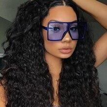 Vintage Big Square Sunglasses Women Goggles Mens Oversize Sun Glasses