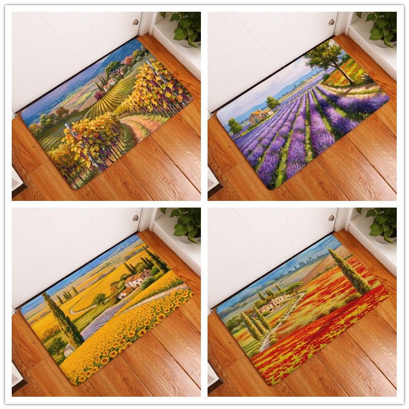 2017 New Oil Painting Landscape Print Teppiche Badematten - Haustextilien