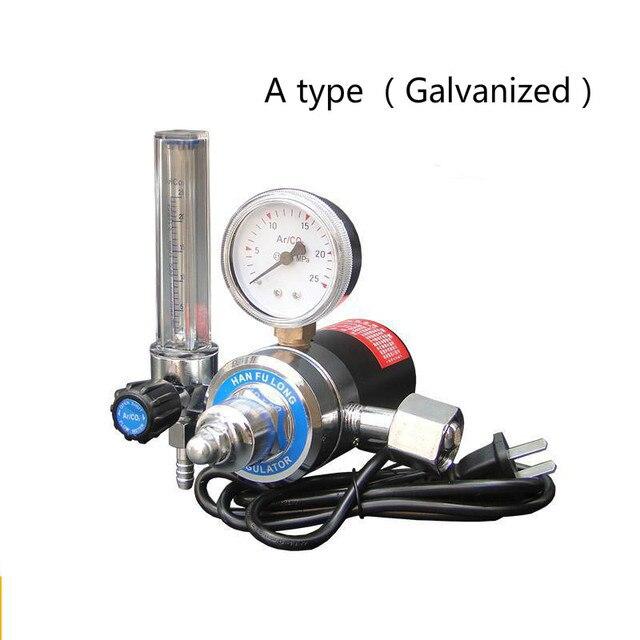 Co2 تخفيض الضغط متر مختلط مسخن الغاز 36C/220 فولت المخفض التحكم صمام لحام مقياس الجريان